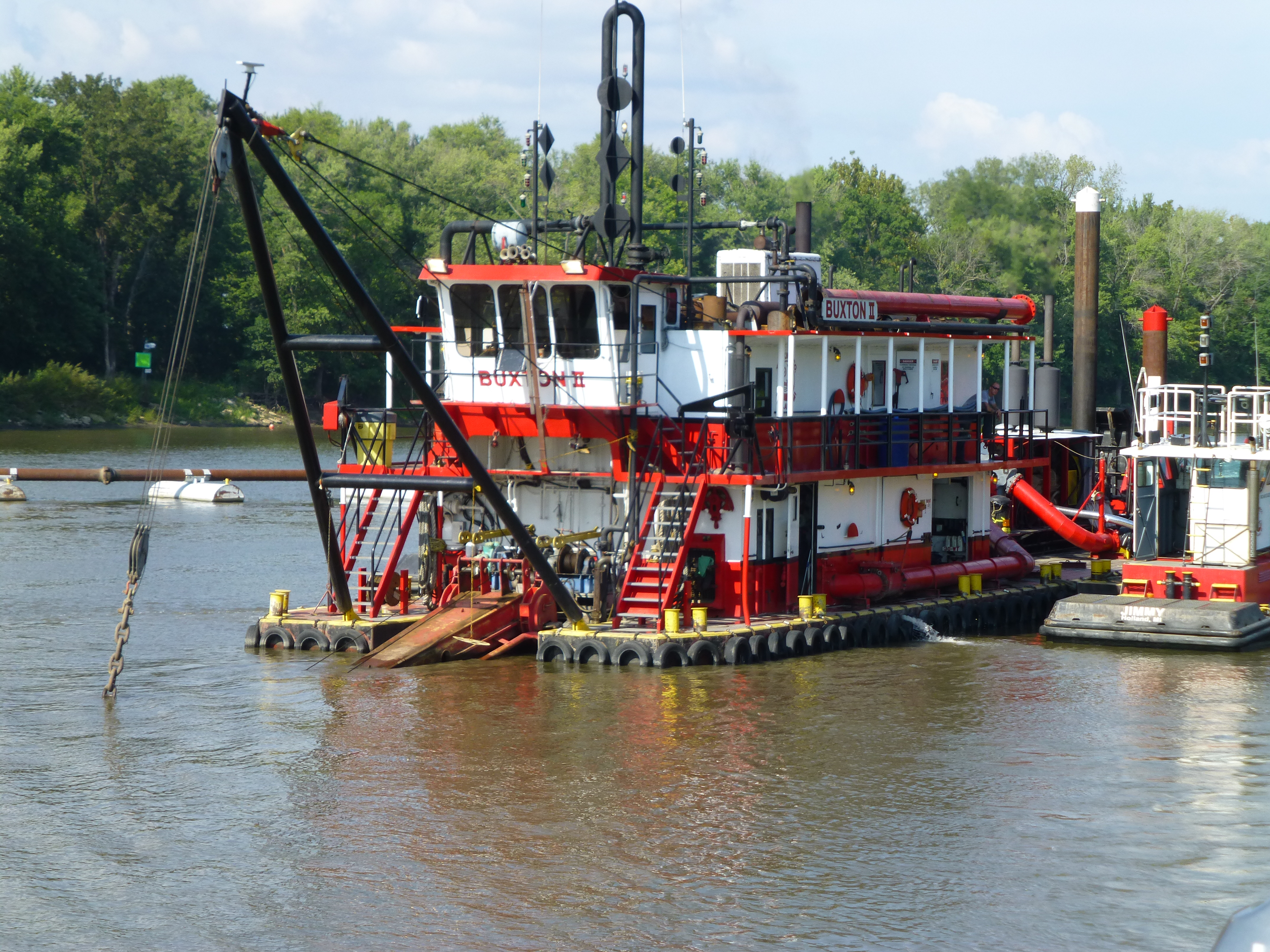 Beardstown, IL and Logstons tug barge